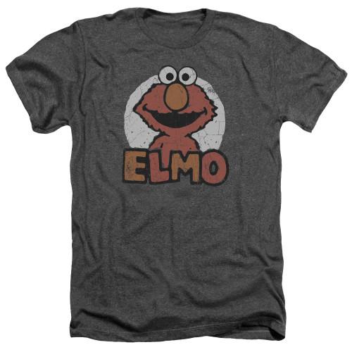 Image for Sesame Street Heather T-Shirt - Elmo Name
