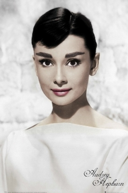 Image for Audrey Hepburn Poster - White