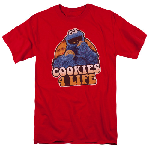 Image for Sesame Street T-Shirt - Cookies 4 Life