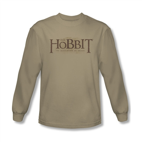 Image for The Hobbit Desolation of Smaug Textured Logo long sleeve T-Shirt