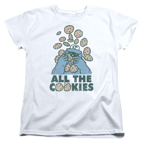 Image for Sesame Street Womans T-Shirt - Cookie Monster All the Cookies