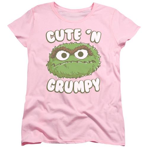 Image for Sesame Street Womans T-Shirt - Oscar Cute 'n Grumpy