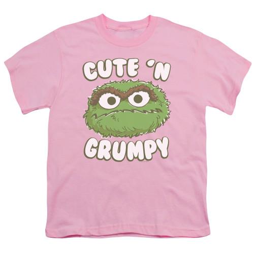 Image for Sesame Street Youth T-Shirt - Oscar Cute 'n Grumpy