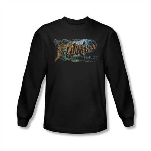 Image for The Hobbit Desolation of Smaug Greetings from Mirkwood long sleeve T-Shirt