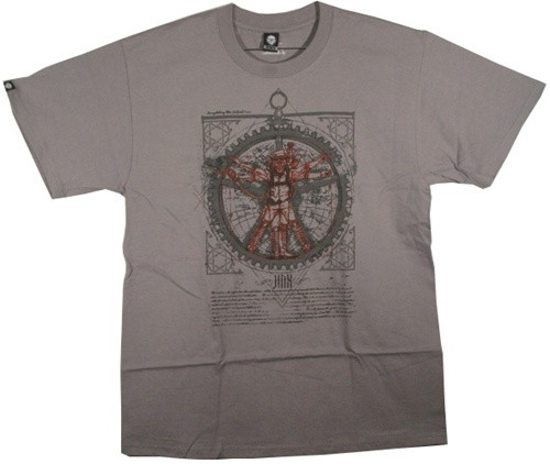 Image Closeup for Vitruvian Steam Punk T-Shirt