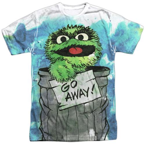 Image for Sesame Street T-Shirt - Oscar the Grouch Go Away