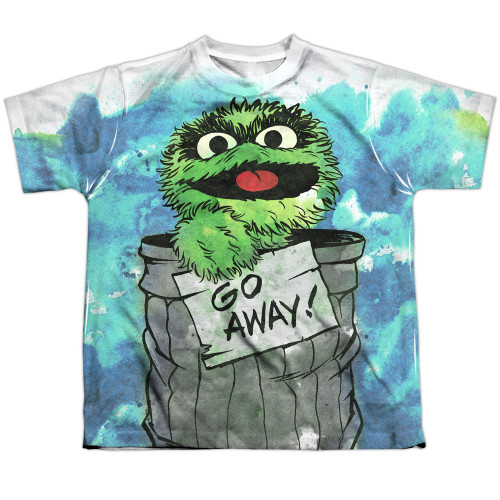 Image for Sesame Street Youth T-Shirt - Oscar the Grouch Go Away