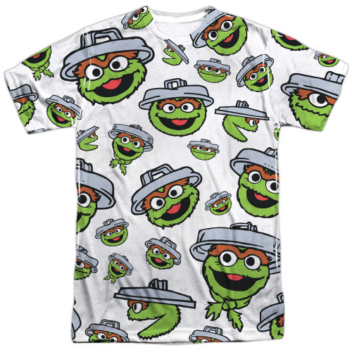 Image for Sesame Street T-Shirt - Oscar the Grouch Faces