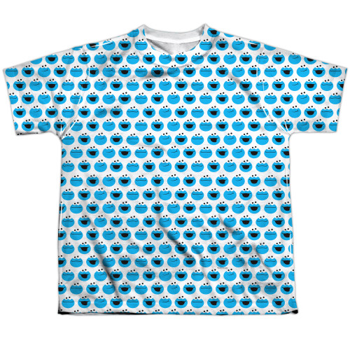 Image for Sesame Street Youth T-Shirt - Cookie Monster Pattern