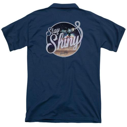 Image Closeup for Firefly Polo Shirt - Stay Shiny