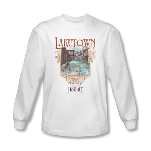 Image for The Hobbit Desolation of Smaug Laketown long sleeve T-Shirt