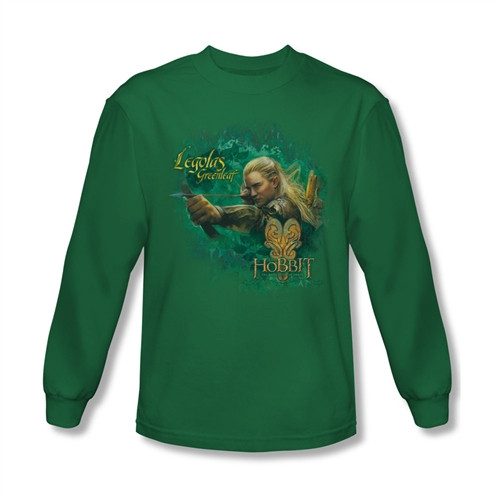 Image for The Hobbit Desolation of Smaug Greenleaf long sleeve T-Shirt