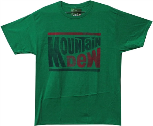 Image Closeup for Mountain Dew Distressed T-Shirt
