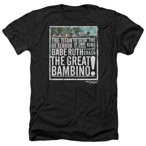Image for The Sandlot Heather T-Shirt - the Great Bambino