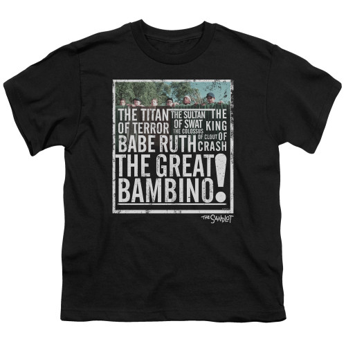 Image for The Sandlot Youth T-Shirt - the Great Bambino