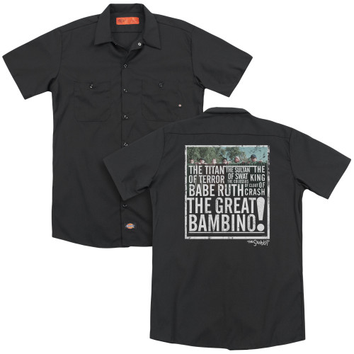 Image for The Sandlot Dickies Work Shirt - the Great Bambino