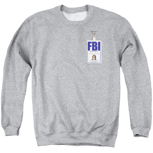 Image for X-Files Crewneck - Skully Badge