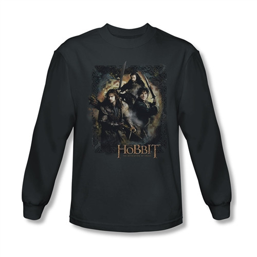 Image for The Hobbit Desolation of Smaug Weapons Drawn long sleeve T-Shirt