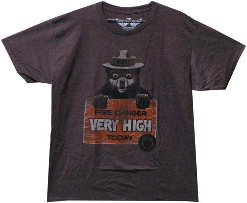 Image Closeup for Smokey the Bear T-Shirt