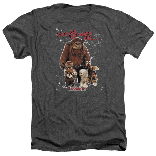 Image for Labyrinth Heather T-Shirt - Should You Need Us