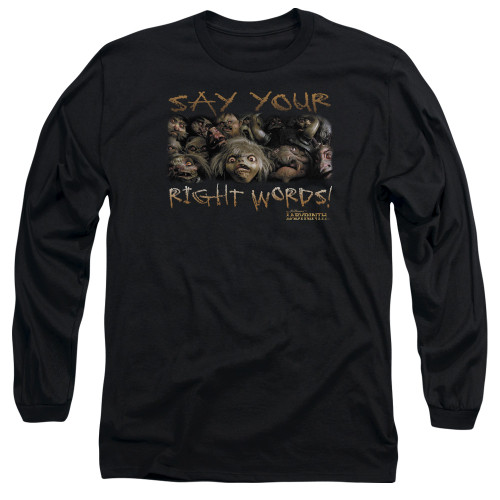 Image for Labyrinth Long Sleeve Shirt - Say Your Right Words