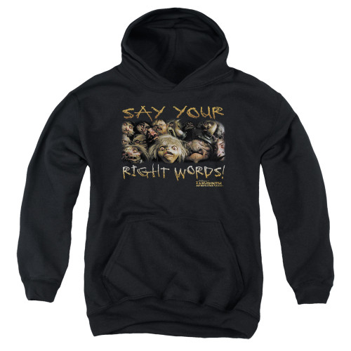 Image for Labyrinth Youth Hoodie - Say Your Right Words