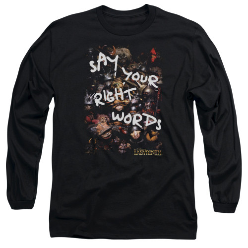 Image for Labyrinth Long Sleeve Shirt - Right Words
