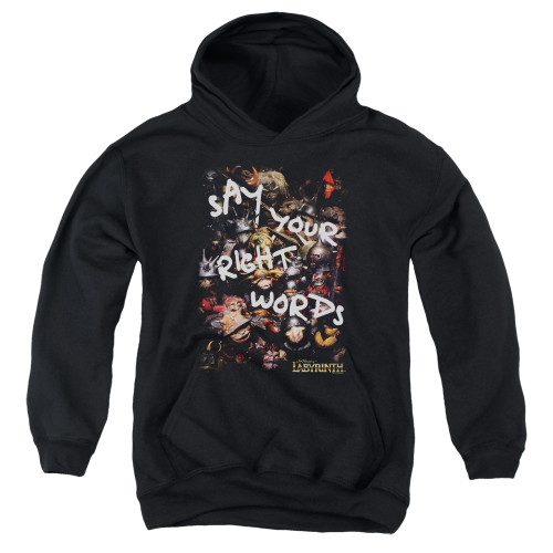 Image for Labyrinth Youth Hoodie - Right Words