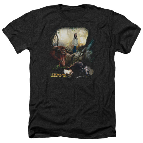 Image for Labyrinth Heather T-Shirt - Sarah & Ludo