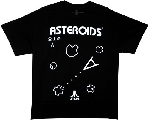Image Closeup for Asteroids T-Shirt