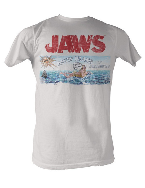 Image for Jaws Amity Island Welcomes You T-Shirt