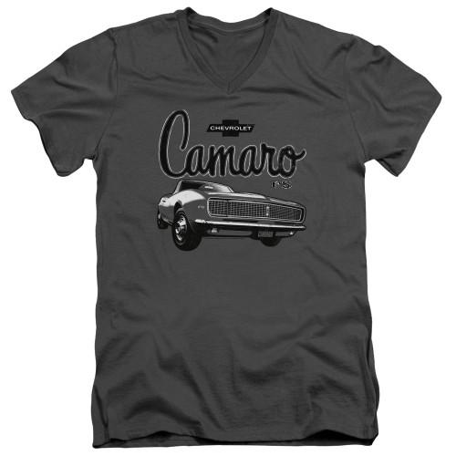 Image for General Motors V Neck T-Shirt - Script Car