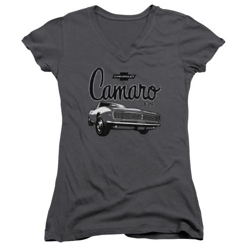 Image for General Motors Girls V Neck - Script Car