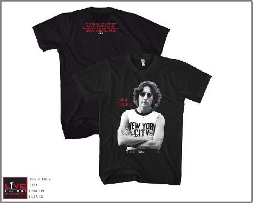 Image Closeup for John Lennon New York T-Shirt