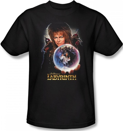 Image Closeup for Labyrinth T-Shirt - I Have a Gift