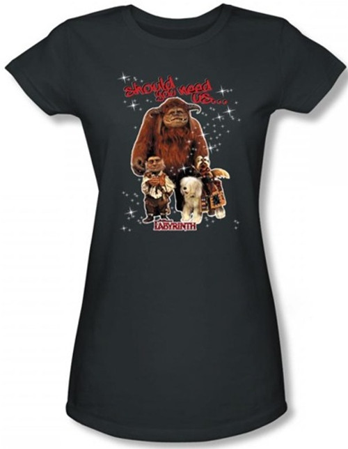 Image for Labyrinth Girls Shirt - Should You Need Us...