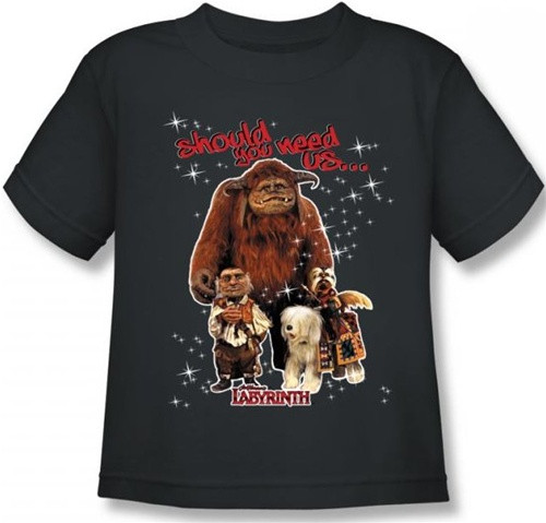 Image for Labyrinth Kids T-Shirt - Should You Need Us...