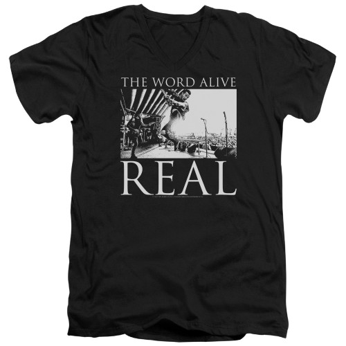 Image for The Word Alive V Neck T-Shirt - Live Shot