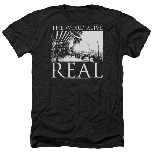 Image for The Word Alive Heather T-Shirt - Live Shot