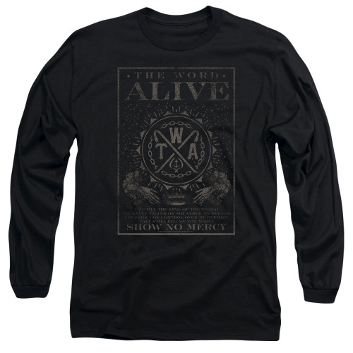 Image for The Word Alive Long Sleeve Shirt - Show No Mercy