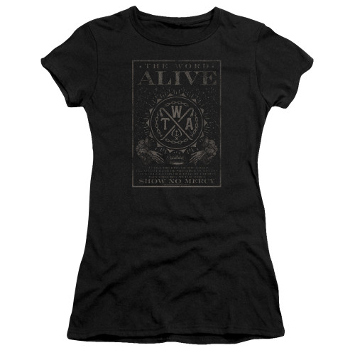 Image for The Word Alive Girls T-Shirt - Show No Mercy