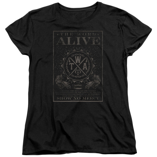 Image for The Word Alive Womans T-Shirt - Show No Mercy
