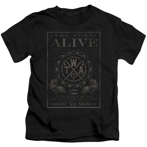 Image for The Word Alive Kids T-Shirt - Show No Mercy