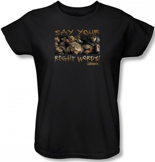 Image for Labyrinth Womens T-Shirt - Say Your Right Words