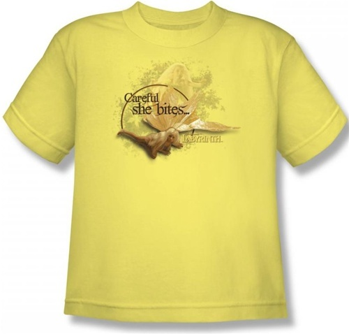 Image for Labyrinth Youth T-Shirt - Careful She Bites...