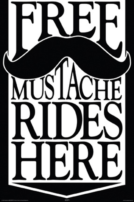 Image for Free Mustache Rides Poster
