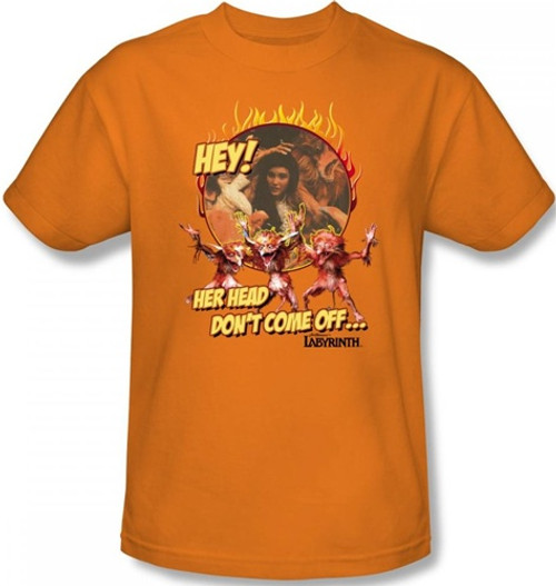 Image for Labyrinth T-Shirt - Hey! Her Head Don't Come Off...