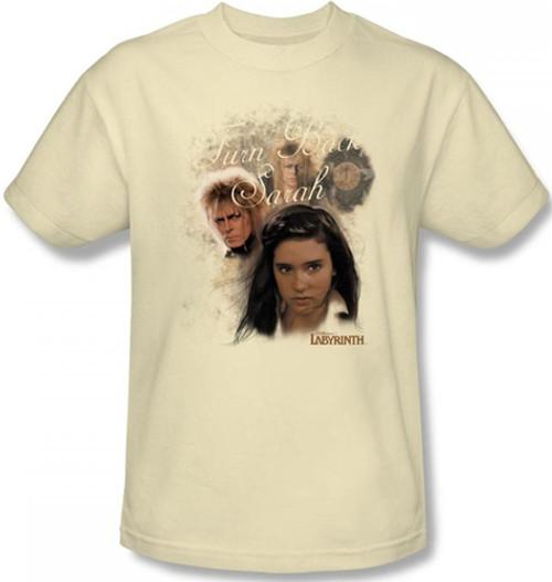 Image Closeup for Labyrinth T-Shirt - Turn Back Sarah