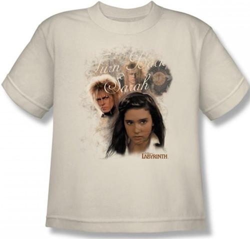 Image for Labyrinth Youth T-Shirt - Turn Back Sarah
