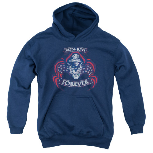 Image for Bon Jovi Youth Hoodie - Forever Skull